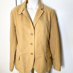 J. Crew Camel Cotton Blazer Jacket 10 12